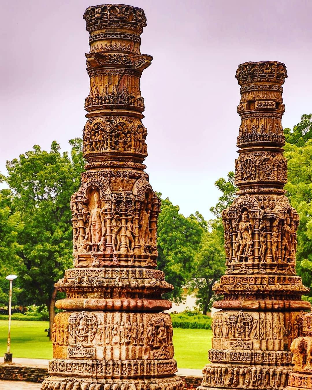 "1000yrs old ""Chaubeesi Sthara Sthambha""24 Layered Pillar indicating the  24hrs..."