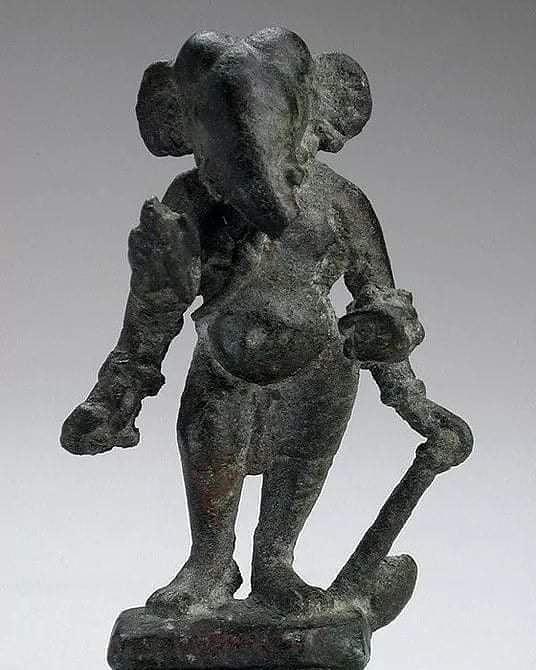 1300 years old God Ganesha idol 7th century A.D.Found by Archeological team in...