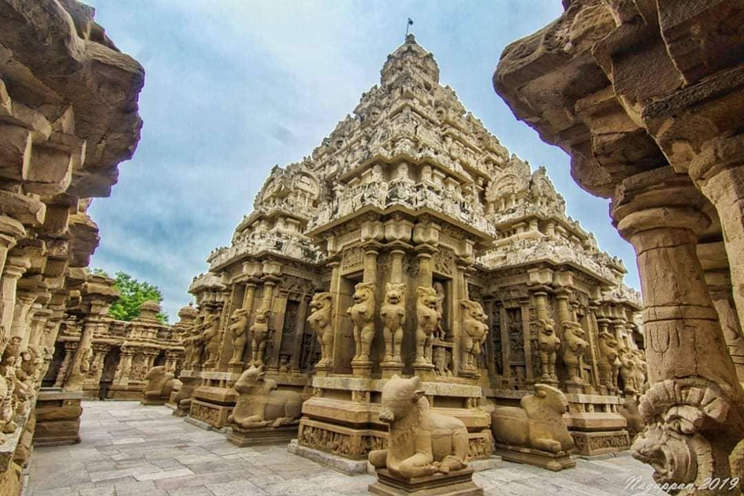 Kailasanatha Temple! #tn #tamil #nadu #tamilnadu #kanchipuram #lost #temple #tem...