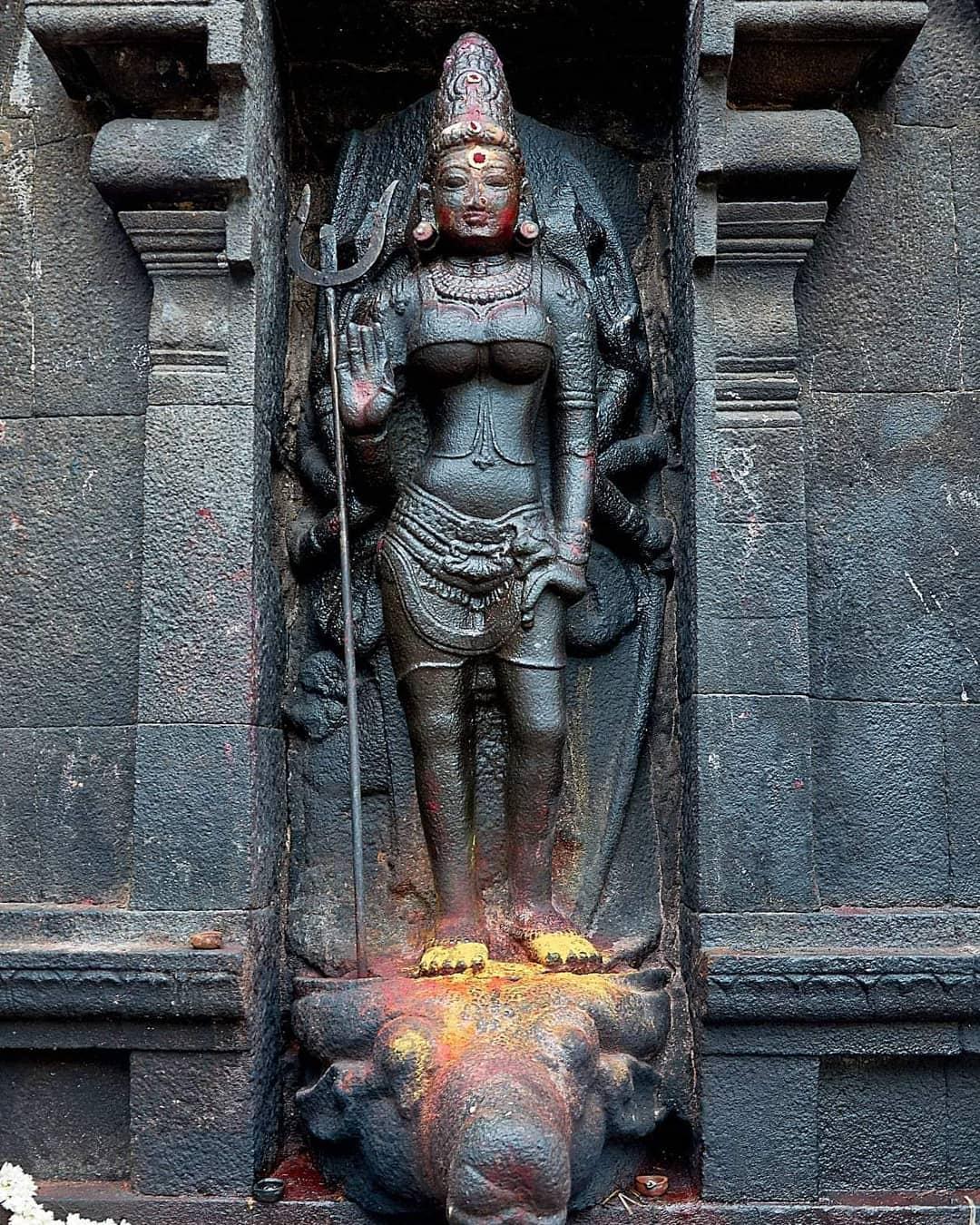 Maa Durga.Pancha natheeswarar temple Near Pondicherry.#pondicherry #lost #temp...