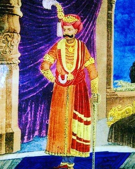 This is the original painting of Sri Krishna Devaraya made during the visit of P...